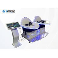Quality White Colour Two Person 9D Virtual Reality Slide Simulator For Theme Park for sale