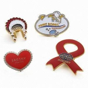 China Fabric Five Star Fish Eyeglass Esa Lapel Pin Badges Breast Cancer Custom Epoxy Coated on sale