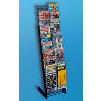 China Two side wire Metal Display Racks / shelf with multiple hooks on sale
