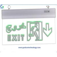 Quality Emergency Lighting Products Emergency Exit Sign GS-ES12 with AA 600mAh Ni-Cd Battery for Emergency Using for sale