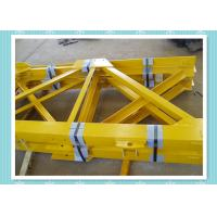 Steel Structure Tower Crane Mast Section Construction With Shot Blast