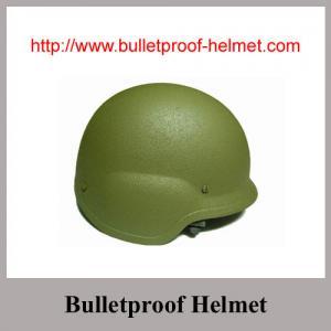 Ballistic Multi-layers Aramid Fiber PASGT Shape Bulletproof Helmet