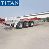 Quality 3 Axle Container Trailer Chassis 20ft / 40ft Skeleton Semi Trailer for sale