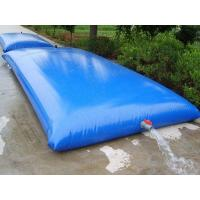 Quality PVC bladder inflatable water storage tanks , high strength coated fabric 10500lt for sale