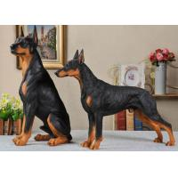 Quality Resin Material Simulation Dog For Garden Decoration / Home Security for sale