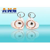 Quality CMYK Print Clear Low Frequency Rfid Tags , White Portable Rfid Keychain for sale
