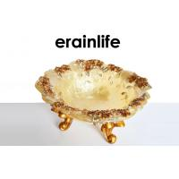Quality Luxury Gold Polyresin Fruit Tray REACH Home Decorating Items for sale