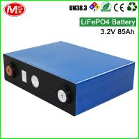 Quality Deep cycle li-ion type lifepo4 3.2 volt 85ah battery for solar storage for sale