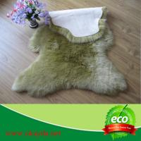 Quality hot selling fashion dyed color sheepskin rugs sheep fur rugs for sale