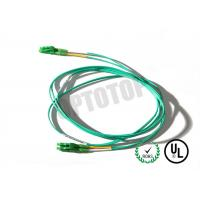 China LC LC Fiber Patch Cord 2F ZIP 2MM Corning SMF-28 ULTRA In Green Jacket on sale