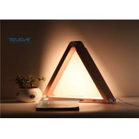 China 6.5w Dc12v Triangle Wireless Charging Lamp , Bedroom Table Lights Super Bright on sale