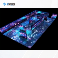 Quality 800W 3D AR 25 Interactive Floor Projection Game For Wedding for sale