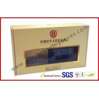 Quality Khaki Window Strong Paper Board Packaging Gift Boxes Elegant Design for sale