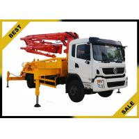Quality Minimizes Chatter Concrete Pump Car  , Concrete Mix Pumping Machine 25.2m Cing for sale