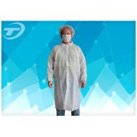 Quality Non - Woven Disposable Lab Coats With Velcro Fastening Soft And Breathable for sale