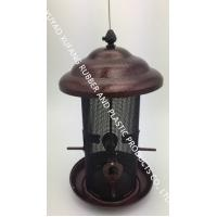 China Multi Function Automatic Wild Bird Feeders Ring Hanging Metal Copper Plated Finish on sale