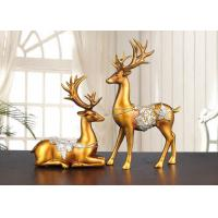 Christmas Reindeer Resin Arts And Crafts Home / Hotel Decoration Use