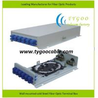 Buy cheap optional Wall mounted cold Steel Fiber Optic Terminal Box from wholesalers