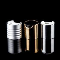 Quality White / Silver / Gold Cosmetic Bottle Cap Ribbed Smooth Closure 3  . 1g for sale