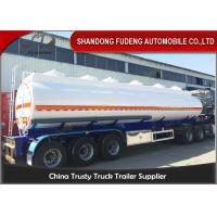 9000 Gallon Fuel Tanker Semi Trailer Optional Dimension High Strength Steel Material