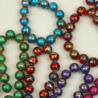 China Golden-foiled Beads, Round and Oval Shapes, Different Solid and Transparent Colors Available on sale