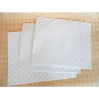 China 100% PP oil absorbent pads,oil absorbent polymer,oil absorbent rags,white color,meltblown non woven on sale