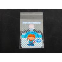Quality Clear Plastic Display Self Adhesive Poly Bags For Clothing Gloss Finish for sale
