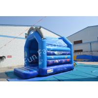 China Blue Moonwalk Regular Dolphin Inflatable Bounce House For Kids on sale