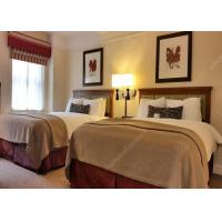 Quality Unique 3 Star Hotel Bedroom Furniture Sets Double Wooden Finish Comfortable for sale