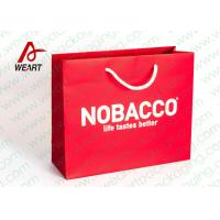 Quality Bright Red Color Personalised Paper Shopping Bags For Business Eco - Friendly for sale