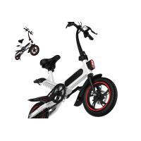 Buy High Load Ability Small Folding Electric Bike White / Black / Red Ergonomics Design at wholesale prices