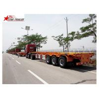 Buy 65T Payload Tipping Skeletal Trailers , Q345B Steel Sliding Skeletal Trailer at wholesale prices