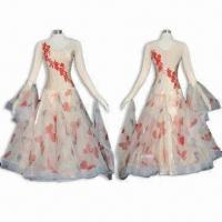 Buy cheap Ballroom Dress, Made of Lycra, Decorated with Korean Stones, Customized Sizes from wholesalers