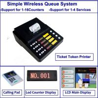 Buy cheap Simple Multiple Function wireless queue management ticket printer customer flow from wholesalers