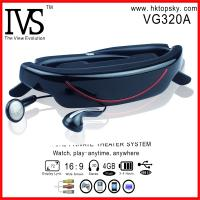 China 72inch virtual screen 16:9 virtual theater glasses with AV input, connect with PS3, WII on sale