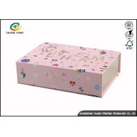 Quality Newly Design Folding Gift Boxes Charming Pink Printing Easy Disassembled for sale