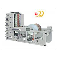 Quality Paper Cup / Label 4 Color Flexographic Printing Machine With Ceramic Anilox Roller for sale
