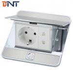 Quality EU plug silver pop up type floor socket box for sale