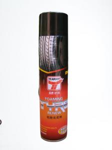 Quality Quick Drying 650ML Car Tyre Foam Cleaner Tire Shine Spray TUV approved for sale