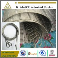 Quality 304 Hand-woven Stainless Steel Wire Rope Mesh for stair frames for sale