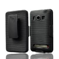 China Phone Protection Case with Holster for HTC Evo 4G Black (CMHTCEVO4GLHS) on sale