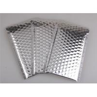 Quality Aluminum Foil Metallic Bubble Mailers Silver Color Self Sealing For Postal Packaging for sale