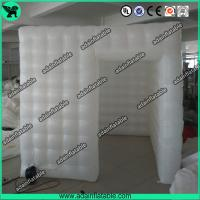Quality White Portable Inflatable Event Tents / Durable Inflatable Photo Booth Tent Printing for sale