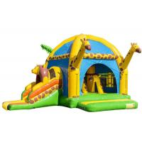 Quality Big Party Giraffe Inflatable Bounce House With Slide Digital Printing Enviroment - Friendly for sale