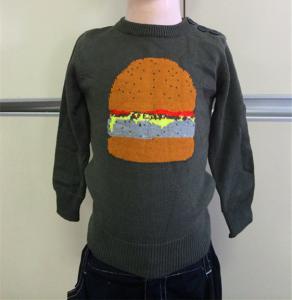 China Boy's Crew Neck Intarsia Sweater on sale