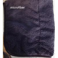 Quality Microfiber 300gsm 150cm Width Black Durable Piping Good-looking Sports Cleaning Towel for sale