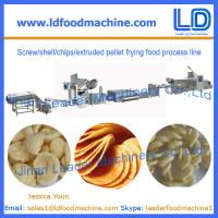 China Screw/shell/chips/extruded pellet frying food process line on sale