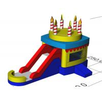 China Indoor Children Birthday Candle Inflatable Bounce House Combo With Slide 3 Years Waranty on sale
