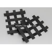 Buy Warp Knitted Polyester PET Biaxial Uniaxial Geogrids Coating With PVC For Road Construction at wholesale prices