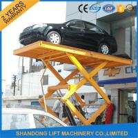 China Residential Hydraulic Scissor Car Lift , Automotive Car Lift for Home Garage Portable on sale